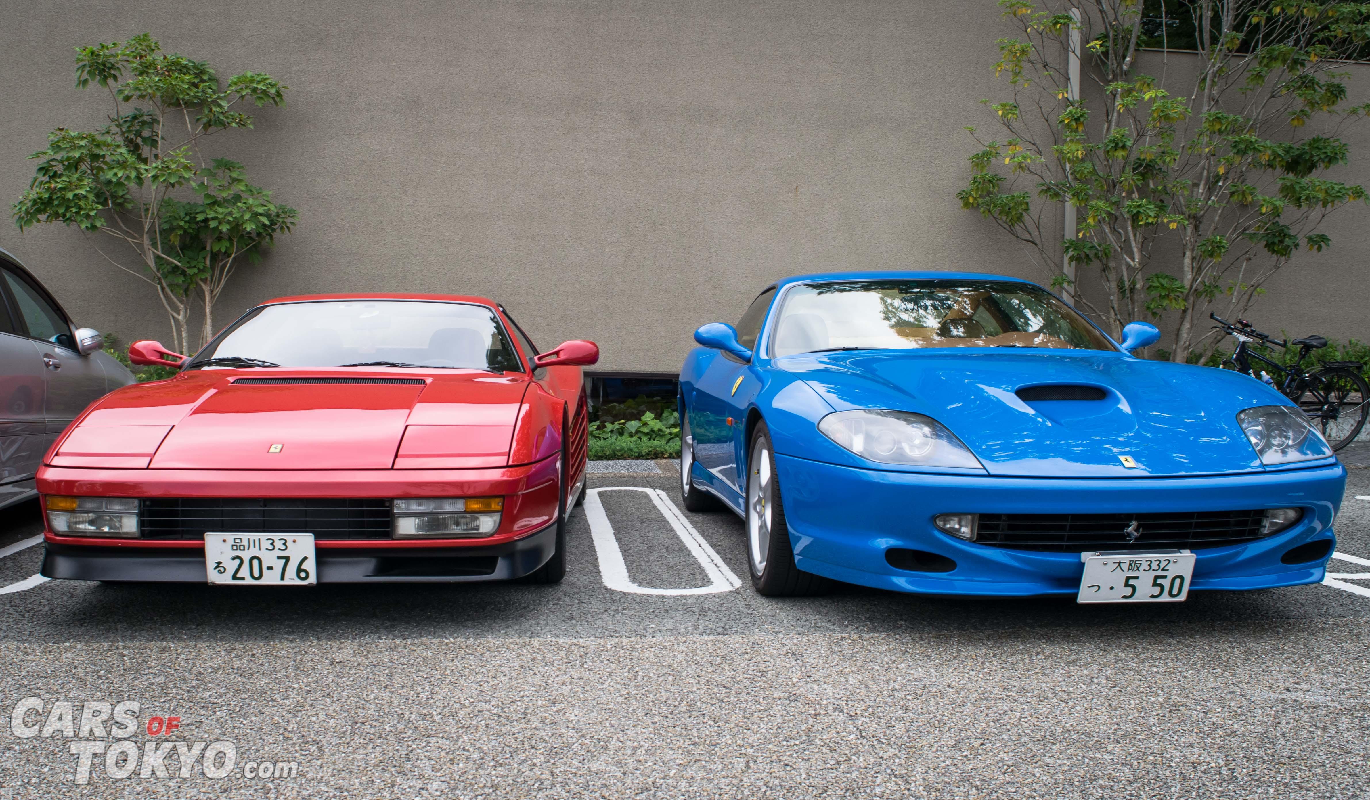 Cars of Tokyo Daikanyama Ferrari Testarossa & 550 Maranello